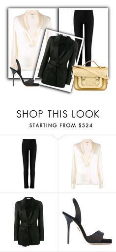 """Outfit # 4160"" by miriam83 ❤ liked on Polyvore featuring Roland Mouret, Loewe, Barbara Casasola, Paul Andrew and The Cambridge Satchel Company"
