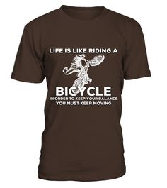 Cycling T Shirts - Life Is Like Riding A Bicycle T Shirt