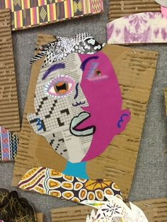 cubist portrait collage. (no lesson here,just examples of lovely student work) Art at Becker Middle School: Picasso portraits revisited
