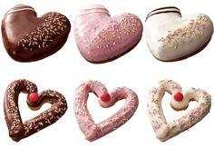 6種類の「ハートフルドーナツ」