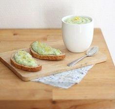 TARTINADE DE COURGETTE/FÉTA/CITRON - Au moment de servir, faire griller le pain et étaler la tartinade de courgettes.