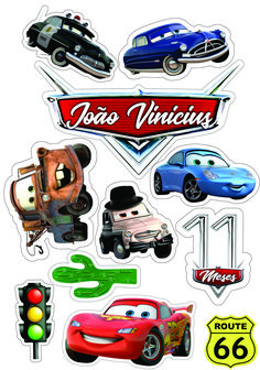 Disney Cars Party, Disney Cars Birthday, Car Cake Toppers, Birthday Cake Toppers, Deco Cars, Lightning Mcqueen Cake, Mermaid Cupcake Toppers, Lol Doll Cake, Car Cookies
