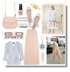 """""""#sportystyle: ballet"""" by hellodollface ❤ liked on Polyvore featuring Needle & Thread, Topshop, Tory Burch, Lancôme, ballet, balletstyle and sportystyle"""