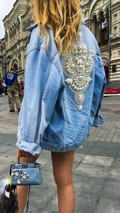 Big denim jacket