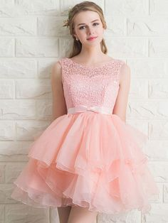 Elegant Lace A-Line Short Homecoming Dress