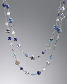 "Bijoux Necklace, Blue Topaz, 40""L by David Yurman at Neiman Marcus."