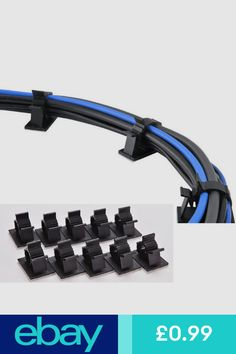 Electrical TV E-db 50 Pack 3M Adjustable Wire Clips Self-Adhesive Cable Clips Cord Clips Cable Management for Office Home Car Computer