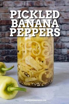 Pickled Banana Peppers - This pickled banana peppers recipe delivers crisp, crunchy, sweet banana peppers that are perfect for snacking or topping salads and sandwiches. Learn how to pickle banana peppers. Recipes With Banana Peppers, Sweet Banana Peppers, Canning Banana Peppers, Stuffed Banana Peppers, Refrigerator Pickle Recipes, Refrigerator Pickled Banana Peppers Recipe, Pickled Hot Banana Peppers Recipe, Canning Vegetables, Grilled Sausage