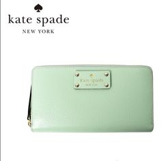 NWT Kate Spade wallet Gorgeous brand new mint green Kate Spade wallet. Make me an offer! kate spade Bags Wallets
