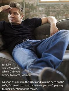 And with that smirk ... I believe him too!!! <---I usually don't like these, but I accept this one...