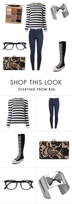"""Winter Sweater"" by elsie-jones ❤ liked on Polyvore featuring Gucci, 7 For All Mankind, Converse, Love Moschino and Stila"