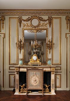 Boiserie from the Hôtel de Cabris, Grasse - now in the Met. Museum, NY - 18th Century French