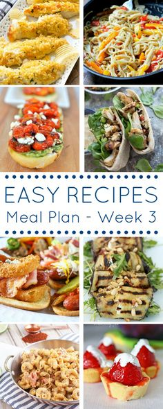 Easy Recipes Meal Plan - Week 3