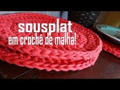 YouTube Crochet Home, Knit Crochet, Diy Crochet Basket, Recycled T Shirts, Manta Crochet, Diy Pins, Doily Patterns, T Shirt Yarn, Hot Pads