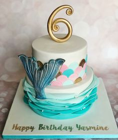 36 Ideas for birthday girl cake Mermaid Birthday Cakes, Cupcake Birthday Cake, Mermaid Cakes, Birthday Cake Girls, Cupcake Cakes, Birthday Ideas, 5th Birthday, Mermaid Cupcake Cake, Celebration Cakes