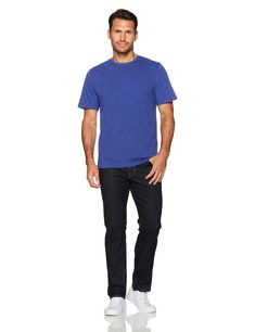 2d5875026c4fd Amazon Essentials Mens 2Pack LooseFit ShortSleeve Crewneck TShirts Blue  Small   Check out the image by visiting the link. Note  It s an affiliate  link to ...