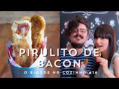 pirulito de panqueca e bacon