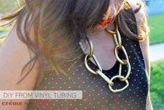 DIY: Chunky Chain Necklace From Vinyl Tubes