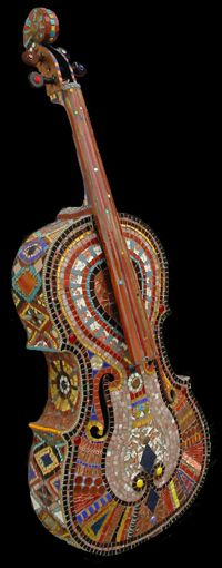 """If It Ain't Baroque Don't Fix It"" Cello, 2003 - Irina Charny Mosaics"