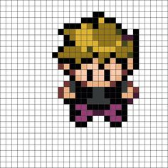 Pokemon Trainer Gary bead pattern