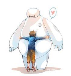 Hiro and Baymax ✿ Big Hero 6 Disney Kunst, Arte Disney, Disney Fan Art, Wallpaper Iphone Disney, Cute Disney Wallpaper, Cute Cartoon Wallpapers, Heros Disney, Disney Movies, Disney Characters
