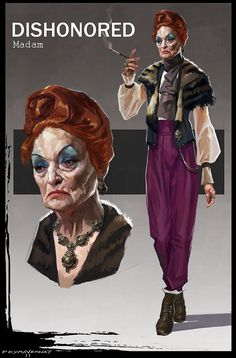 Madam from Dishonored, the new IP from Bethesda #game #videogame