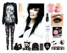 """""""Skull. (Emo)"""" by stardust-x ❤ liked on Polyvore featuring Kill Brand, Toast, Alexander McQueen, Metal Haven by Kendall & Kylie, Accessorize, Eos, Rimmel and Chanel"""