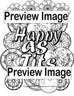 Happy As TitsInstant Digital Download Swear By SwearingAndColoring Adult ColoringColoring Books