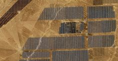 China is home to the world's largest solar farm. It looks pretty spectacular from space. High Desert Landscaping, Desert Landscape, Cool Technology, Solar Panels, Solar Power, Climate Change, Worlds Largest, Space, Oc