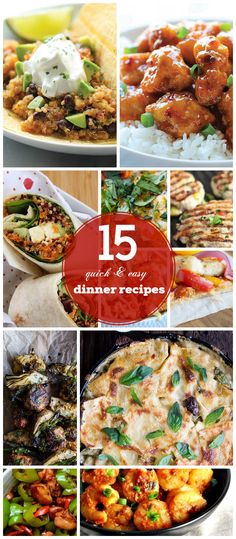 15 Quick and Easy Dinner Recipes for Family | Click for Recipes | Easy Healthy Dinner Recipes on a Budget