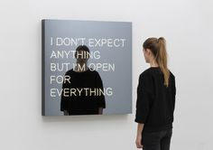 I don't expect anything but I'm hoping for everything - Jeppe Hein 2014 - Galleri Nicolai Wallner Copenhagen