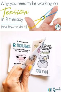 Looking for an effective way to teach R to your speech therapy students? Here's how I use the concept of tension to teach my students to create the R sound. Also, grab the FREE book you can use with your students to go through this exercise. Articulation Therapy, Articulation Activities, Speech Activities, Speech Therapy Activities, Shape Activities, Language Activities, Speech Language Therapy, Speech Language Pathology, Speech And Language