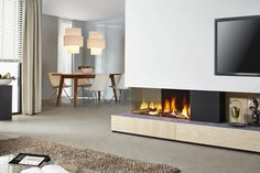 The ultimate in luxury gas fires.  Now available from Kernow Fires   #Dru #GasFires #Cornwall #gas #kernowfires #Fireplaces #Wadebridge #Redruth