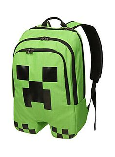 """<p>Is that a Creeper on your back? Keep calm and Creep on Creepin' on in this officially licensed <i>Minecraft Creeper</i> backpack. Double zipper compartments and padded base, dividers, back and straps. Creeper.</p>  <ul> <li>12"""" x 7"""" x 18""""</li> <li>100% Polyester</li> <li>Imported</li> </ul>"""