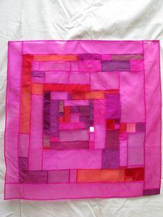 Pojagi - Korean patchwork--looks like jewelry!