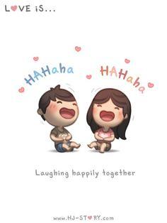 Love Is. Illustrations from HJ-Story Hj Story, Love Is Sweet, What Is Love, My Love, Cute Love Stories, Love Story, Love Quotes For Him, Love Him, Hahaha Hahaha