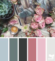 { color collage } image via: @clangart | Painterly Color Combo via Design Seeds