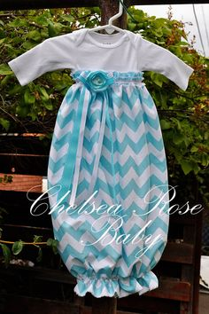 Baby Girl Onesie Dress Baby Girl Dress Chevron by ChelseaRoseBaby, $33.00