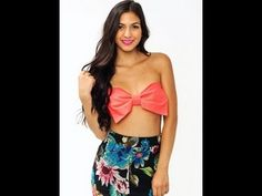 NEW DIY OVERSIZED BOW BANDEAU TOP