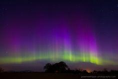 Aurora taken by Graeme Whipps on April 10, 2015 near the Chapel Of Garioch, Aberdeenshire.