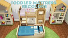 Hi! Here are some recolors for toddler separated mattresses. Again, let me know if anything is wrong with them. :) • You need the following meshes • Separated Toddler Bunk Bed Mattresses by...
