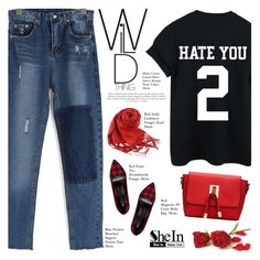 """""""#920 Shein"""" by giulls1 ❤ liked on Polyvore featuring Sheinside, blackred and shein"""