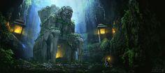 Tomb Entrance by Matthew Harris ~ Concept Artist