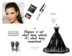"""""""Elegance"""" by spolyvore1 ❤ liked on Polyvore featuring Reception, Bling Jewelry, Jimmy Choo, BillyTheTree, Lancôme, MAC Cosmetics and NARS Cosmetics"""
