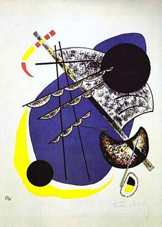 Vasily Kandinsky - Small World   Wassily (Vasily) Wassilyevich Kandinsky was a Russian painter, and art theorist. He is credited with painting of the first to create purely abstract works.