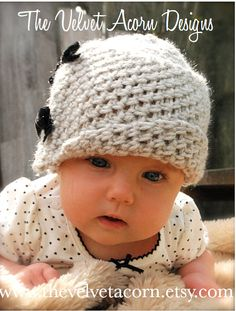 Crochet PATTERN-The Baby Lydia Cloche' (0/3-3/6-6/12 month sizes)