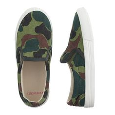 J.Crew - Girls' camo slip-on sneakers