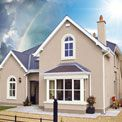 Gallery of houses painted with Weathershield House Color Schemes, Colour Schemes, House Colors, Dulux Weathershield, Attic Rooms, House Painting, Mansions, House Styles, Gallery
