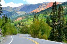 Million Dollar Highway: Silverton Colorado to Ouray Colorado. Beautiful