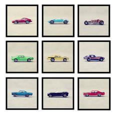 "Boys Hot Wheels and Matchbox Cars Nursery and Bedroom Home Decor Photo - ""Vroom, Vroom"" - Nine 8x8 Fine Art Photography Prints. $225.00, via Etsy."